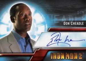 2010 Upper Deck Iron Man 2 AutographsA4 Don Cheadle as Lt. Col. James Rhodey Rhodes