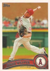 2011 Topps Sparkle 75 Jered Weaver