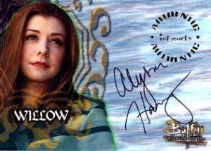 1998 Inkworks Buffy the Vampire Slayer Season 1 Autographs A3 Alyson Hannigan as Willow