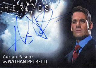 2007 Topps Heroes SDCC Autographs Adrian Pasdar as Nathan Petrelli