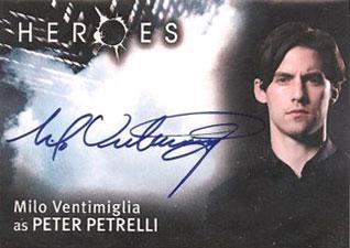 2007 Topps Heroes SDCC Autographs Milo Ventimiglia as Peter Petrelli