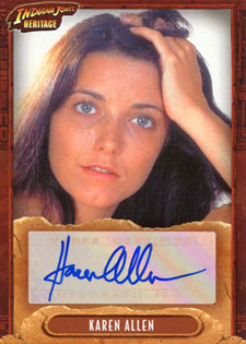 2008 Topps Indiana Jones Heritage Autographs Karen Allen as Marion Ravenwood