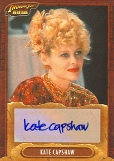 2008 Topps Indiana Jones Heritage Autographs Kate Capshaw as Willie Scott