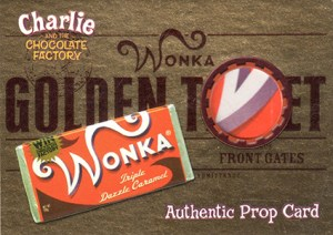 2005 Artbox Charlie and the Chocolate Factory Golden Ticket Prop