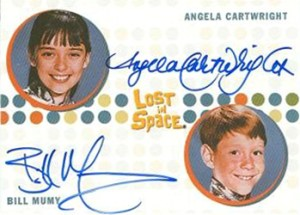 2005 Rittenhouse Complete Lost in Space Autographs Bill Mumy as Will Robinson and Angela Carwright as Penny Robinson