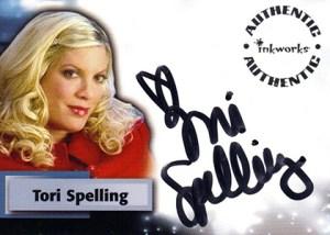 2008 Inkworks Smallville Season 6 Autographs Tori Spelling