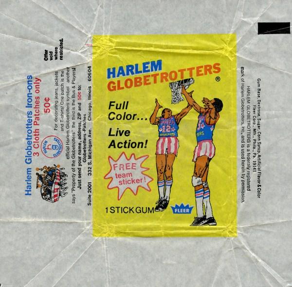 1971 Fleer Harlem Globetrotters Wrapper