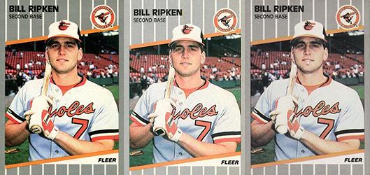 1989 Fleer Bill Ripken variations