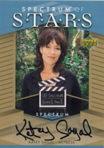 2007 Upper Deck Spectrum Baseball Spectrum of Stars Signatures Katey Sagal Black Ink