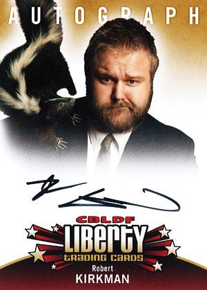 2011 Cryptozoic CBLDF Liberty Robert Kirkman Autograph