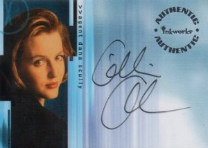 2001 Inkworks X-Files Seasons 6 and 7 Autographs A9 Gillian Anderson