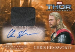 2013 Upper Deck Thor the Dark World Autographed Memorabilia Chris Hemsworth