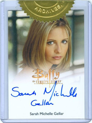 2015 Rittenhouse Buffy the Vampire Slayer Ultimate Collectors Set Sarah Michelle Gellar Autograph Full-Bleed