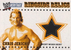 2005 Topps WWE Heritage Ringside Relics Chris Jericho