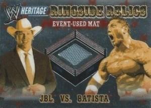 2006 Topps WWE Heritage Chrome Ringside Relic