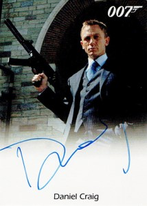 James Bond Heroes and Villains Autographs Daniel Craig