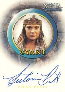 2002 Xena Beauty and Brawn Autographs A22 Vicky Pratt