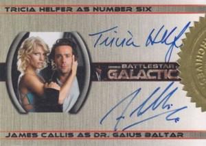 2006 Battlestar Galactica Season 1 Dual Autographs Helfer Callis