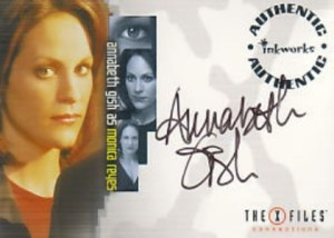 X-Files Connections Autographs A2 Annabeth Gish