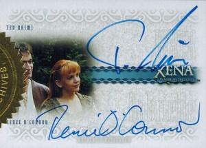 2004 Art and Images of Xena Dual Autograph DA7 Ted Raimi Renee OConnor