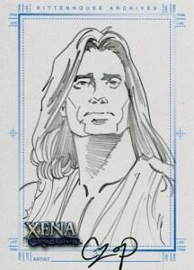 2004 Art and Images of Xena SketchaFEX Sketch Card John Czop Hercules