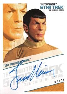 2004 Quotable Star Trek TOS Autographs QA2 Leonard Nimoy Live