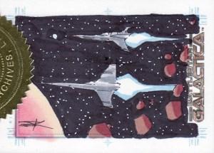 2007 Battlestar Galactica Season 2 Sketch Card