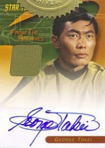 2008 Star Trek TOS 40th Anniversary Series 2 Autographed Costume George Takei