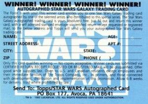 1993 Star Wars Galaxy Autograph Redemption