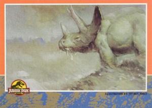 1993 Topps Jurassic Park Gold Promo Card