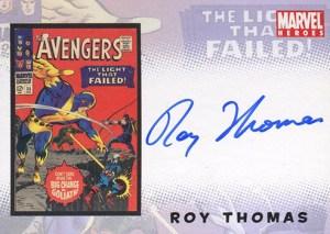 2006 Complete Avengers Autographs Roy Thomas