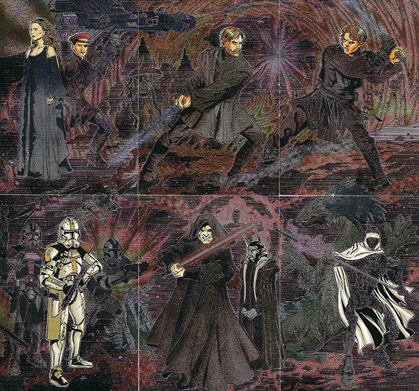 2006 Star Wars Evolution Update Etched Foil