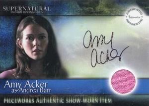 2006 Supernatural Season 1 Autographed Pieceworks PWA2 Amy Acker