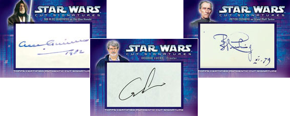 2006 Topps Star Wars Evolution Update Cut Signatures