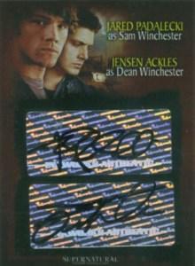2008 Supernatural Season 3 Dual Autograph SD1 Jared Padalecki Jensen Ackles