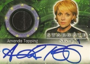 2009 Stargate Heroes Autographed Costume Amanda Tapping