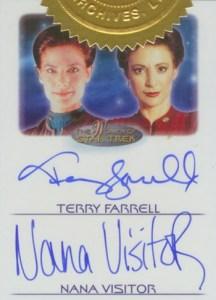 2010 Women of Star Trek Dual Autograph Terry Farrell Nana Visitor