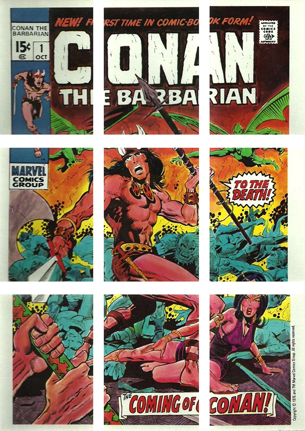 1976 Marvel Super Hero Stickers Puzzle