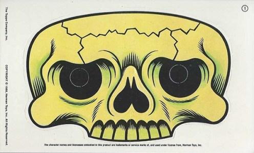 1988 Pee Wees Playhouse Activity Cards Dsiguies