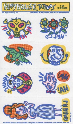 1988 Pee Wees Playhouse Tattoos