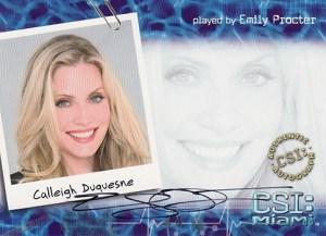 2007 CSI Miami Series 2 Autographs A4 Emily Procter