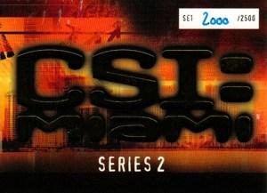 2007 CSI Miami Series 2 Box Topper