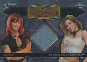 2007 Topps WWE Heritage Chrome II Ringside Relics Lita Mickie James