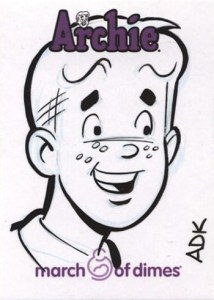 2009 Archie March of Dimes Sketch Cards Adam DeKraker