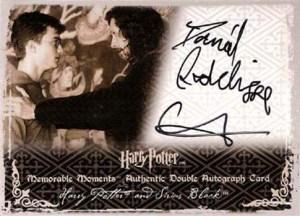 2009 Harry Potter Memorable Moments 2 Dual Autographs Daniel Radcliffe Gary Oldman