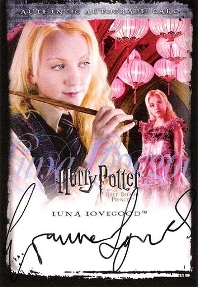 2009 Harry Potter SDCC Autographs Evanna Lynch