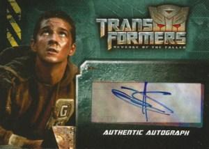 2009 Transformers Revenge of the Fallen Autographs Shia LeBeouf