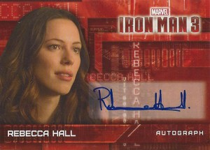 2013 Iron Man 3 Autographs RH Rebecca Hall