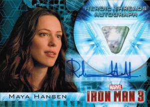 2013 Iron Man 3 Heroic Materials Autographs Rebecca Hall