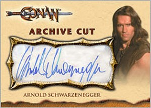 2009 Rittenhouse Conan the Barbarian Movies Autograph Expansion Arnold Schwarzenegger as Conan the Barbarian